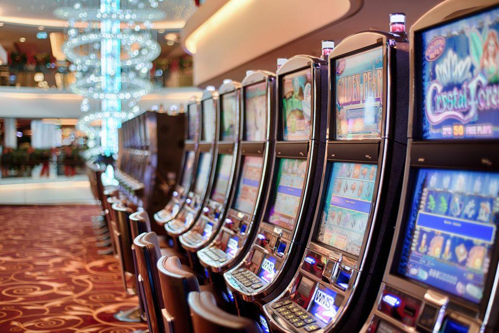 Line of Slot Machines